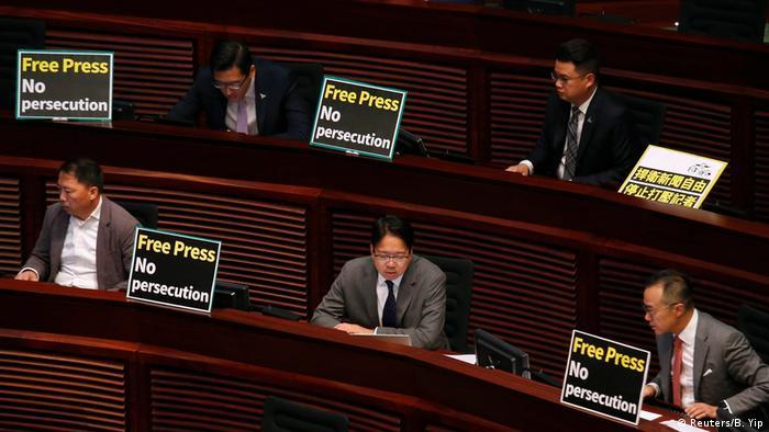 Hongkong Protest Pressefreiheit (Reuters/B. Yip)