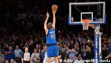 USA NBA Dirk Nowitzki Dallas Mavericks - New York Knicks