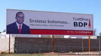 Wahlplakate in Gaborone (Foto: Katrin Gänsler)