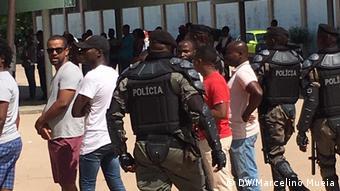 Mosambik Quelimane Lokalwahlen Polizei