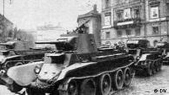 Радянський танк на вулицях Львова, вересень 1939