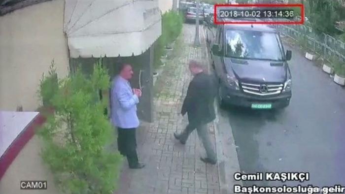 Video still said to show Khashoggi entering the Saudi consulate in Istanbul