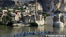 FILE PHOTO: A general view of the ancient town ofÊHasankeyf by the Tigris river, which will be significantly submerged by the Ilisu dam being constructed, in southeastern Turkey, August 26, 2018. REUTERS/Sertac Kayar/File Photo