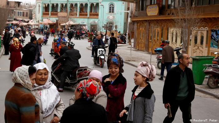 People of the Uighur community in Xinjiang