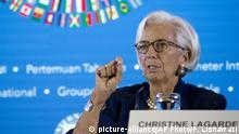 Indonesien Jahrestagung von IWF und Weltbank Christine Lagarde