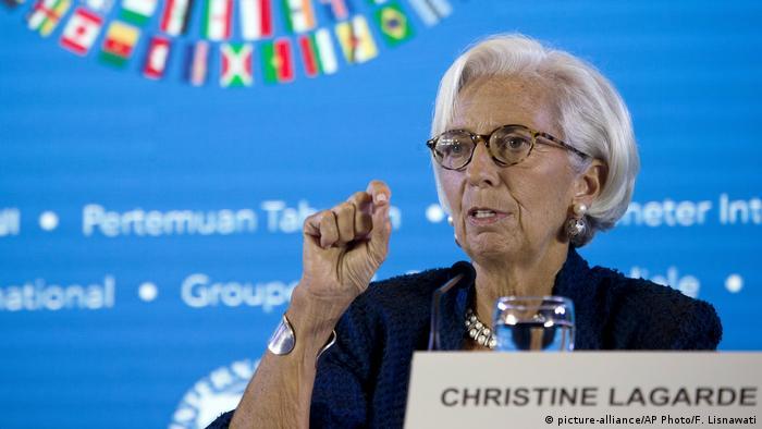 Christine Lagarde en el encuentro anual del FMI, en Bali.