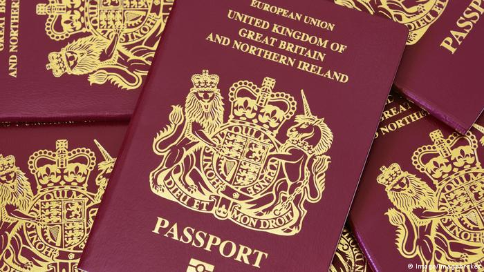 A display of British passports