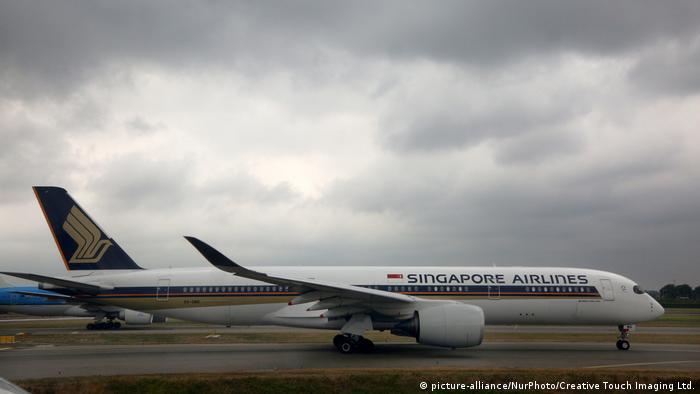 A Singapore Airlines Airbus A350-900 airplane