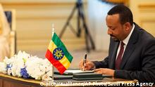 Äthiopien Abiy Ahmed Premierminister (picture-alliance/AP Photo/Saudi Press Agency)