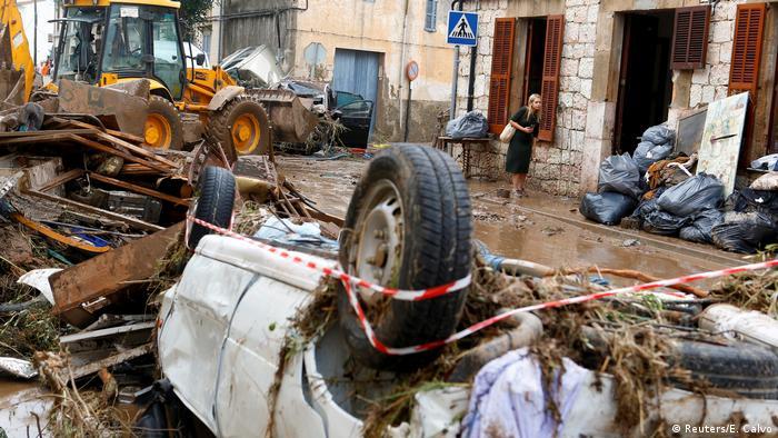 Spanien Überschwemmung auf Mallorca