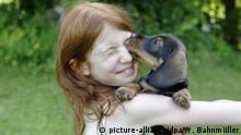 Hund leckt Gesicht