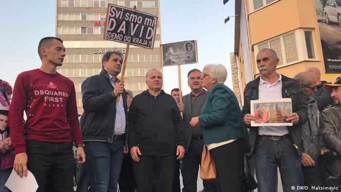 Bosnien Herzegowina Demonstrationen in Banjaluka Gerechtigkeit für David (DW/D. Maksimovic)