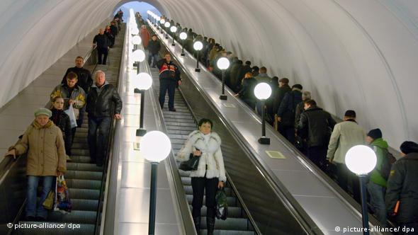 People on escalators at Elektrozavodskaya metro station Photo ITAR-TASS / Stanislav Krasilnikov