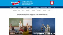 Screenshot AfD-Fraktion Hamburg | Neutrale Schulen