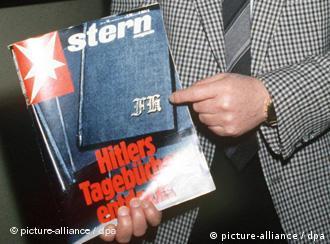 1983: Titelseite des Stern mit dem angeblich originalen Tagebuch (Foto: dpa)