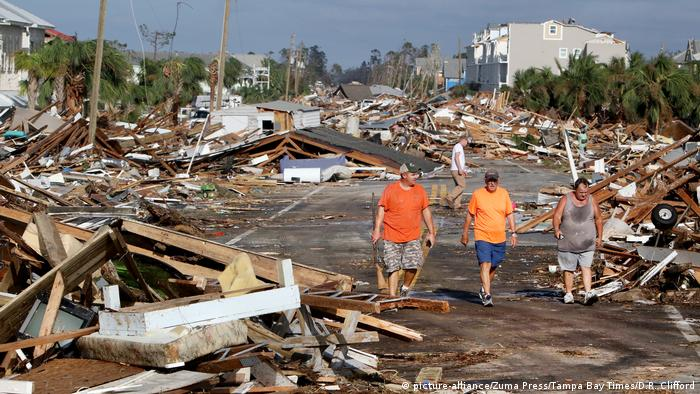 USA Zerstörung durch Hurrikan Michael Mexico Beach, Florida (picture-alliance/Zuma Press/Tampa Bay Times/D.R. Clifford)