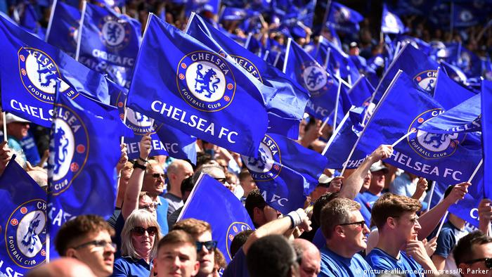 Chelsea supporters at Wembley Stadium