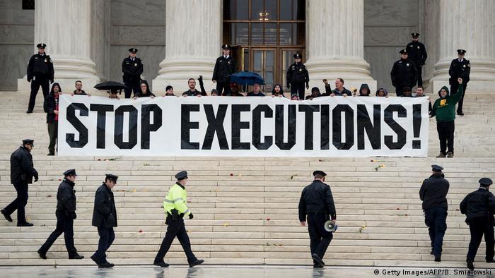 Washington Protest gegen Todesstrafe