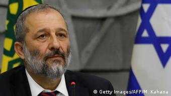 Israel Kabinett Minister Aryeh Deri (Ausschnitt)