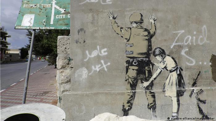 Banksy mural on Westbank barrier (picture-alliance/imagebroker)