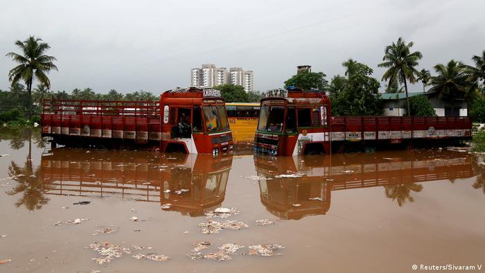 India, inundaciones en Kerala