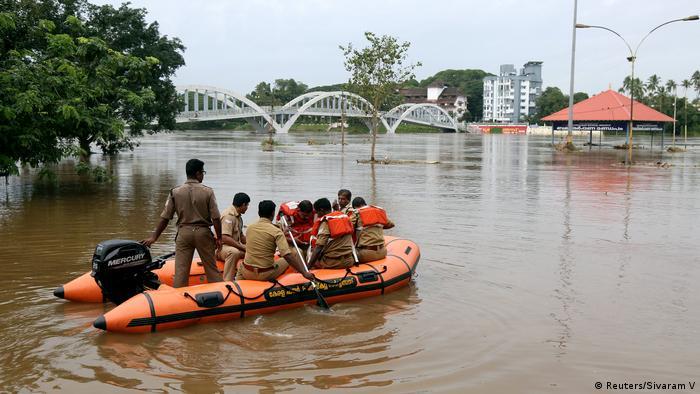 India, inundaciones en Kerala.