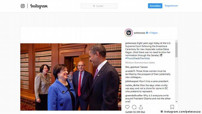 Screenshot Instagram Pete Souza (instagram.com/petesouza)