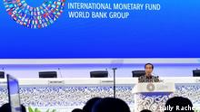 Indonesischer Präsident Joko Widodo in IMF-World Bank Yearly Meeting 2018 in Bali