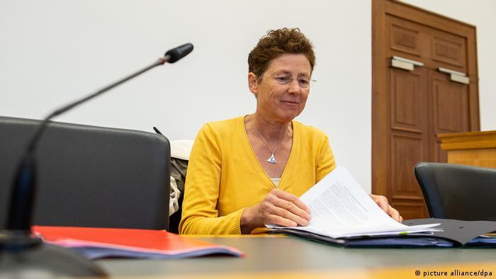 Kristina Hänel in the courtroom
