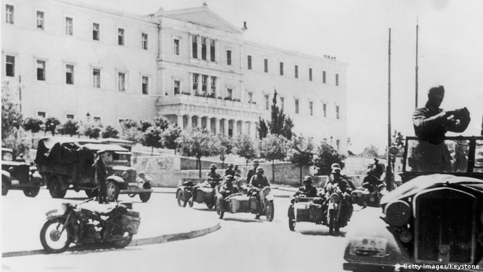 Griechenland Zweiter Weltkrieg Besatzung der Deutschen Truppe