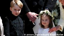 Großbritannien Royal Wedding Prinzessin Eugenie & Jack Brooksbank in Windsor: Prinz George und Prinzessin Charlotte