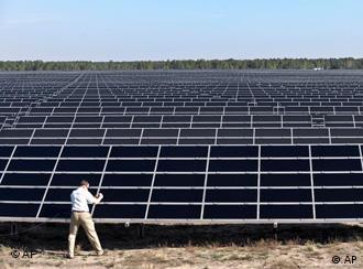 A solar power park near Cottbus, Germany