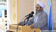 Iran - Mowlana Abdolhamid, geistlicher Sunnite, hält eine Rede vor ca. 500 Lehrern in Sistan und Balutschistan