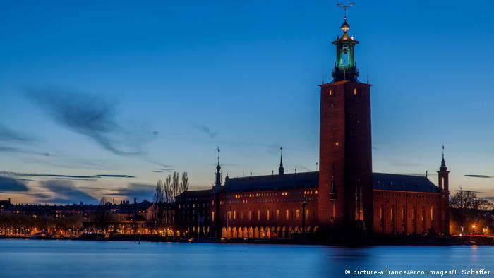 Schweden Stockholm Rathaus