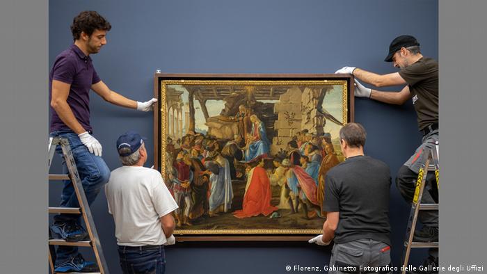 Adoration of the Magi by Sandro Boticellli (Florenz, Gabinetto Fotografico delle Gallerie degli Uffizi)