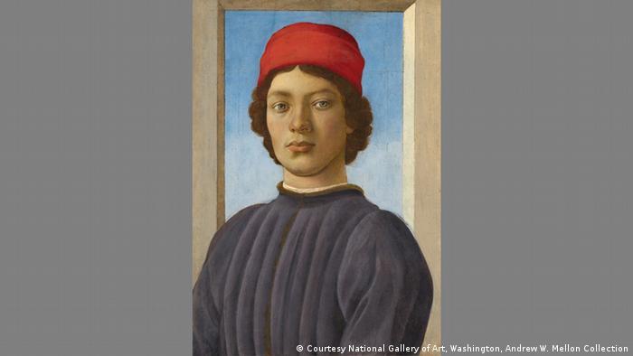 Filippino Lippi, portrait of a young man (Gabinetto Fotografico delle Galleria degli Uffizi)