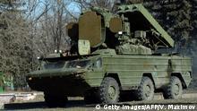 Ukraine russisches Luftabwehrsystem SA-8 Gecko in Makijiwka