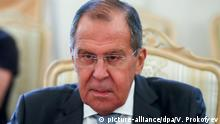 10.10.2018, Russland, Moskau: MOSCOW, RUSSIA - OCTOBER 10, 2018: Russia's Foreign Minister Sergei Lavrov during a meeting with his Andorran counterpart Maria Ubach Font. Vyacheslav Prokofyev/TASS Foto: Vyacheslav Prokofyev/TASS/dpa |
