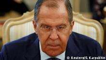 October 8, 2018. Russian Foreign Minister Sergei Lavrov attends a meeting with his Italian counterpart Enzo Moavero Milanesi in Moscow, Russia October 8, 2018. REUTERS/Sergei Karpukhin