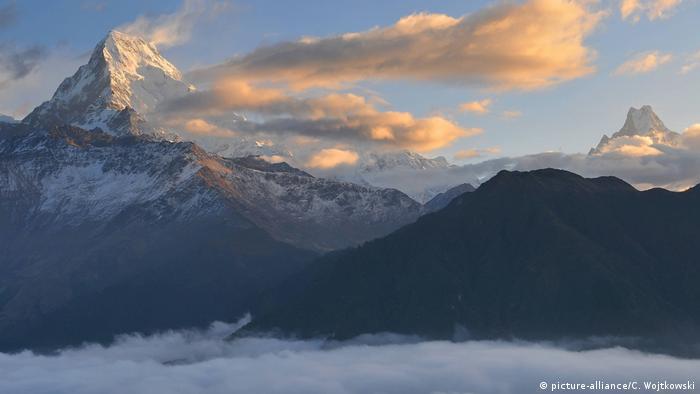 Nepal Ghorepani, Poon- Hügel, Dhaulagiri in Himalaya