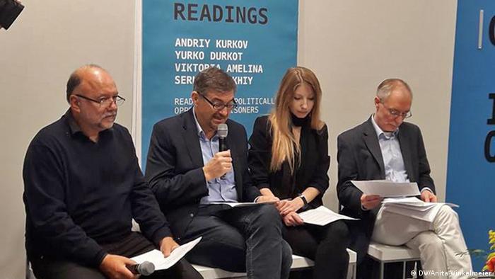 Читання творів Сенцова на Франкфуртському книжковому ярмарку
