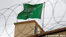 Türkei Fahne Saudi Arabins über dem Konsulat in Istanbul