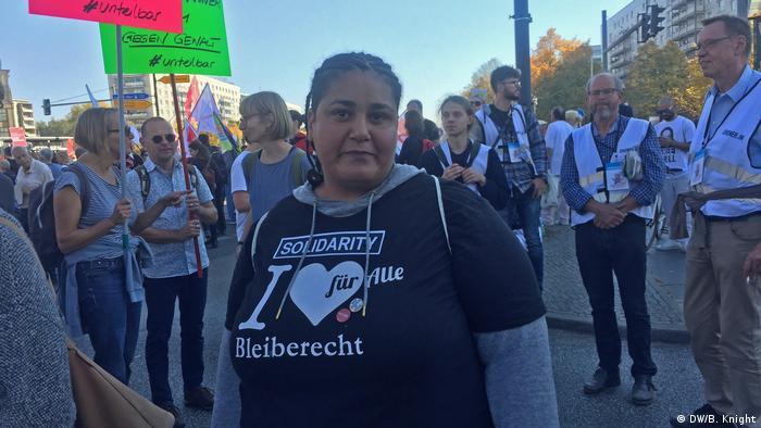 Rola Saleh at the Berlin Unteilbar-Demonstration