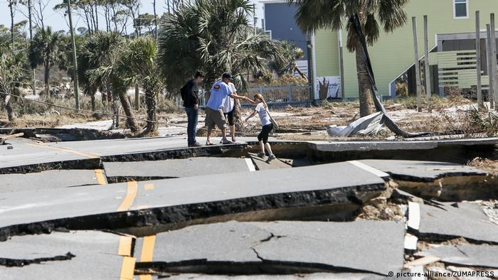 Schäden nach Hurricane Michael in Cape San Blas (picture-alliance/ZUMAPRESS)