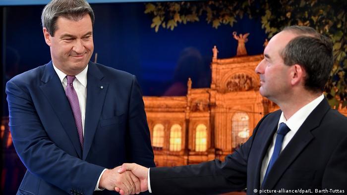 Прем'єр Баварії Маркус Зедер (л) та лідер Вільних виборців Хуберт Айвангер