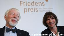 Jan Assmann & Aleida Assmann at the Frankfurt Book Fair 2018 (picture-alliance/dpa/A. Dedert)