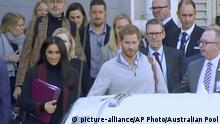 Prince Harry and Meghan Markle arrive in Sydney (picture-alliance/AP Photo/Australian Pool)