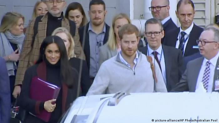 Prince Harry and Meghan Markle arrive in Sydney