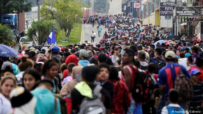 Honduras Karawane von Flüchtlingen in Richtung USA