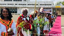 Unity in diversity:- showcasing Ethiopia's diverse cultural heritage while welcoming the visiting delegation in Arbaminch, Gamo-Gofa Zone, SNNPR Foto: Fitsum Arega Quelle: https://twitter.com/fitsumaregaa/status/1051596843384274944
